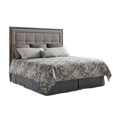 Ariana St Tropez Upholstered Panel Headboard Size: California King, Upholstery: Silver/Gray