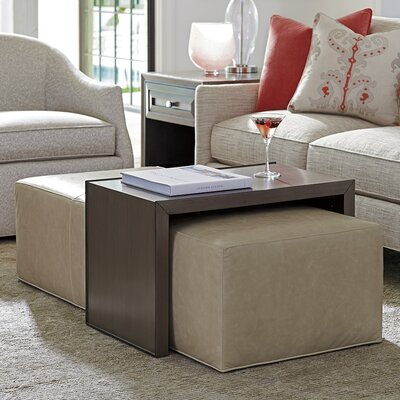 Ariana Savona Leather Cocktail Ottoman