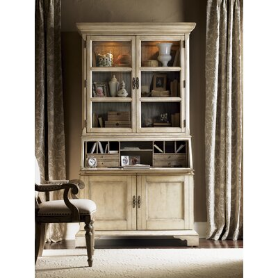 Cheap Lexington Twilight Bay Colette Buffet and Hutch Set in Distressed Aged White / Textured Soft Taupe Gray (LTN2024)