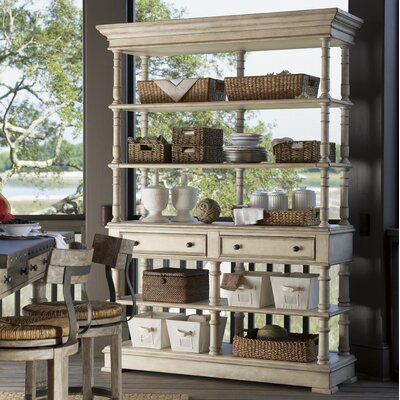 Cheap Lexington Twilight Bay Merideth Buffet and Hutch Set in Distressed Aged White Crackle Antique (LTN2026)