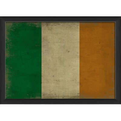 Irish Flag III Framed Graphic Art