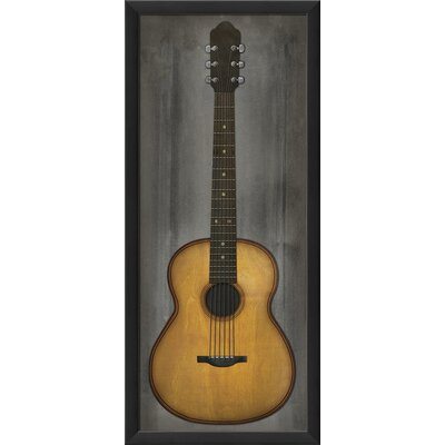 Guitar Framed Graphic Art in Beige and Grey 19648