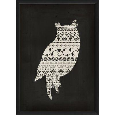 'Owl' Framed Graphic Art Print BGRS6455 44550677
