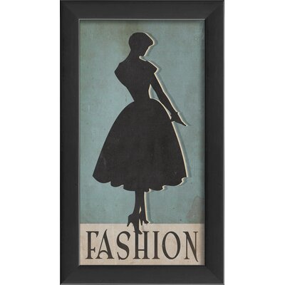 Fashion Silhouette Small Framed Graphic Art 17718