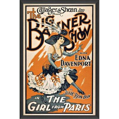 The Big Banner Show Framed Vintage Advertisement 55028