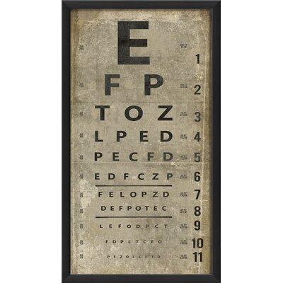 Eye Chart Framed Textual Art Color: White