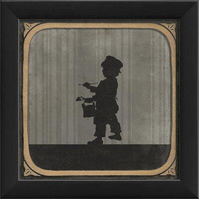 Little Boy Painting Framed Graphic Art 18534 EB