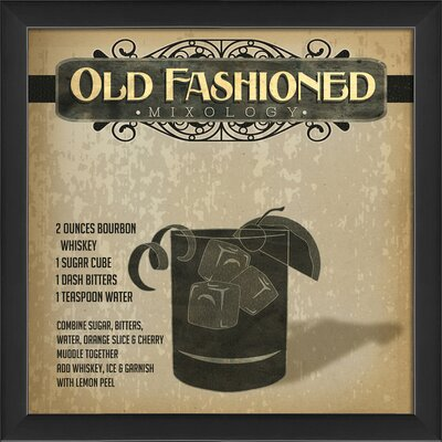 Old Fashioned Mixology Framed Graphic Art 18522 EB