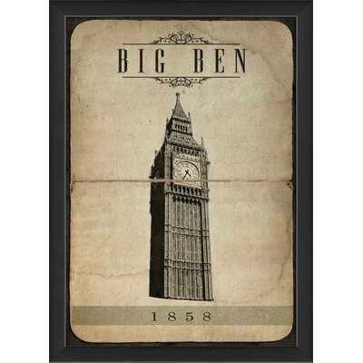 Big Ben Framed Graphic Art 18765 EB