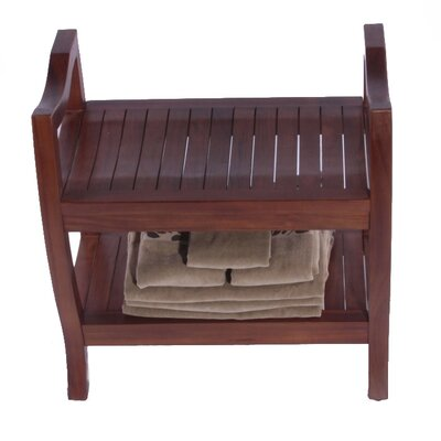 "Decoteak LiftAide Contemporary Teak Spa Shower Bench - Size: 24"" at Sears.com"