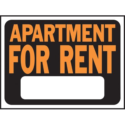 Apartment for Rent Sign (Set of 10)