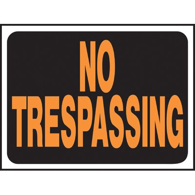 No Trespassing Sign (Set of 10)
