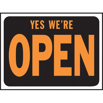 Yes Were Open Sign (Set of 10)