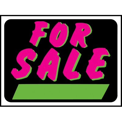 Fluorescent for Sale Sign (Set of 10)