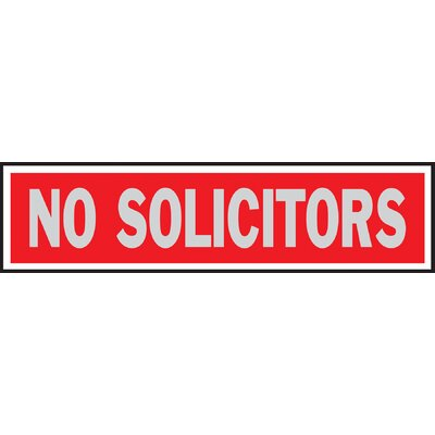 No Solicitors Sign (Set of 10)