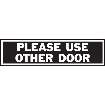 Please Use Other Door Sign (Set of 10)
