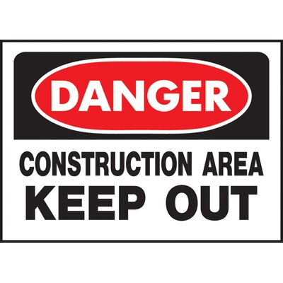 Danger Construction Sign (Set of 5)