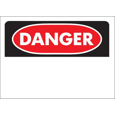Danger Blank Sign (Set of 5)