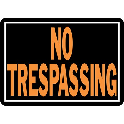 No Trespassing Sign (Set of 12)