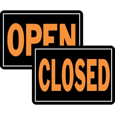 Open/Closed Sign (Set of 12)