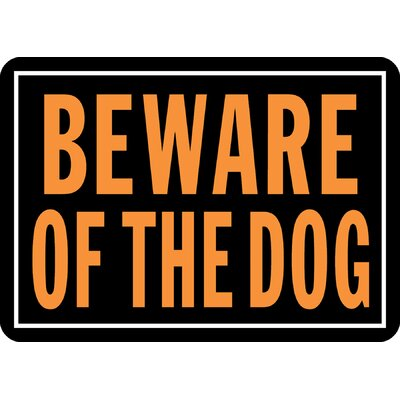 Beware of The Dog Sign (Set of 12)