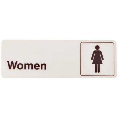 Women Bathroom Sign (Set of 5)