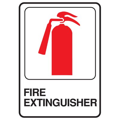 Fire Extinguisher Sign (Set of 5)