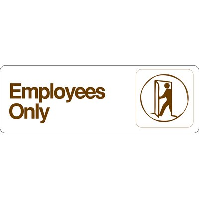 Graphic Design Employees only Sign (Set of 5)