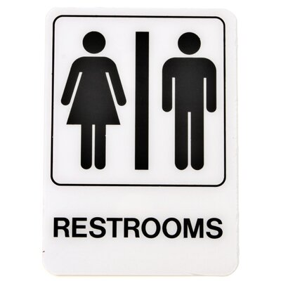 Restrooms Sign (Set of 5)