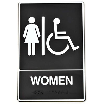 Braille Women Handicap Access Sign (Set of 3)