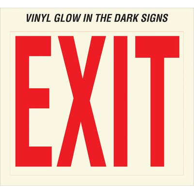 Glow In The Dark Exit Sign (Set of 10)