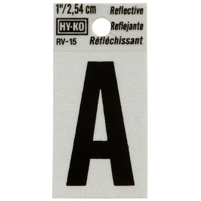 Reflective Letter Sign (Set of 10) Letter: W