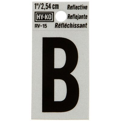 Reflective Letter Sign (Set of 10) Letter: B