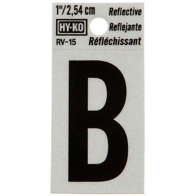 Reflective Letter Sign (Set of 10) Letter: B