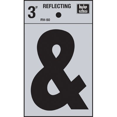 Self Stick Reflective Ampersand Symbol (Set of 10)