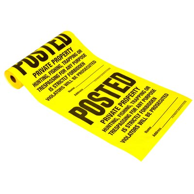 100 Count Posted Sign Roll