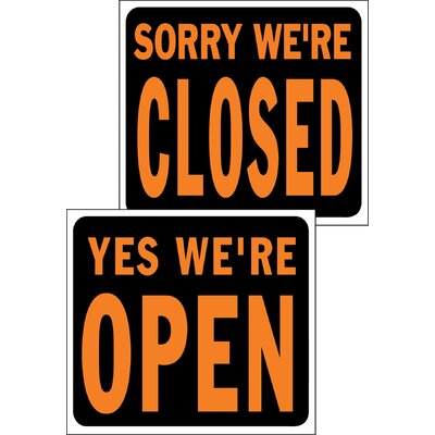 15 x 19 Plastic Open and Closed Sign (Set of 5)