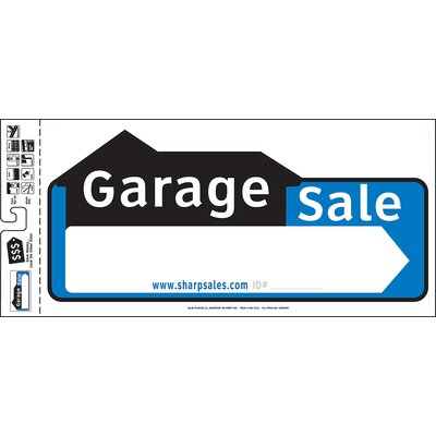 10 x 22 Garage Sale Sign (Set of 3)