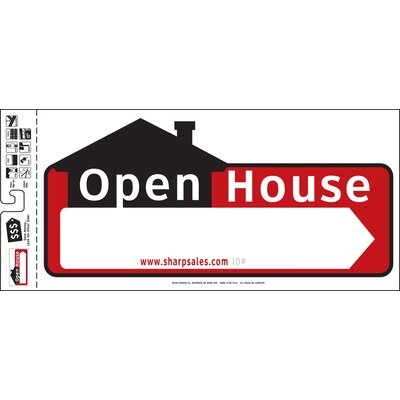 10 x 22 Open House Sign (Set of 3)