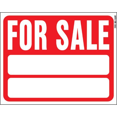 15 x 19 Plastic For Sale Auto Sign (Set of 5)
