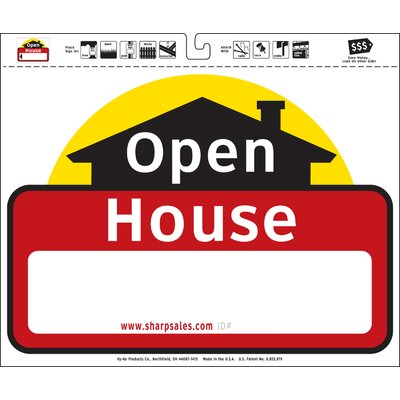 """20"""" X 24"""" Open House Sign (set Of 3)"""