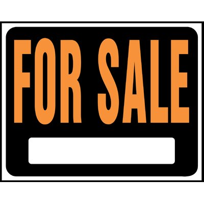 15 x 19 Plastic For Sale Sign (Set of 5)