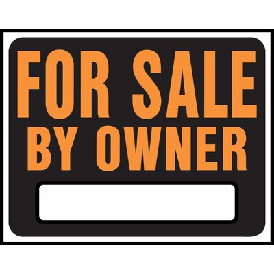 15 x 19 Plastic For Sale By Owner Sign (Set of 5)
