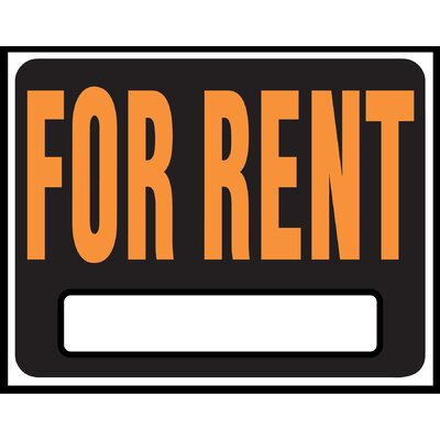 15 x 19 Plastic For Rent Sign (Set of 5)