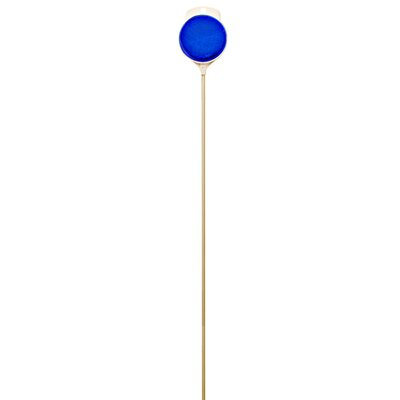 36 Plastic Plexiglass Driveway Marker with Fiberglass Rod (Set of 24) Color: Blue