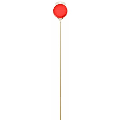 36 Plastic Plexiglass Driveway Marker with Fiberglass Rod (Set of 24) Color: Red