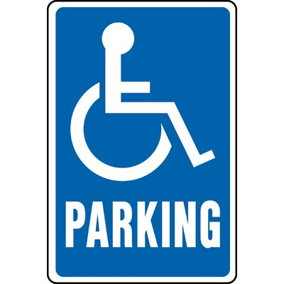 Handicap Parking Aluminum Highway Sign