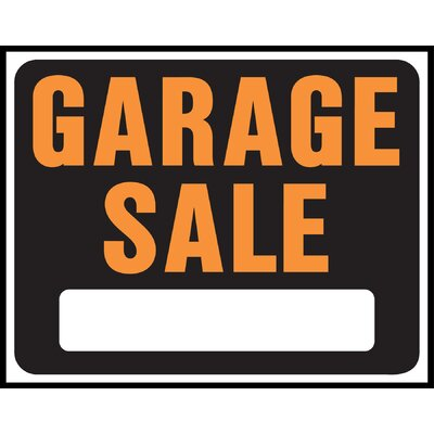 15 x 19 Plastic Garage Sale Sign (Set of 5)