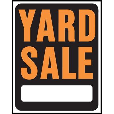 15 x 19 Plastic Yard Sale Sign (Set of 5)