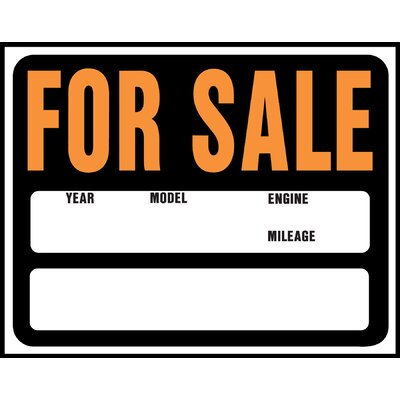 15 x 19 Plastic Auto and Boat For Sale Sign (Set of 5)